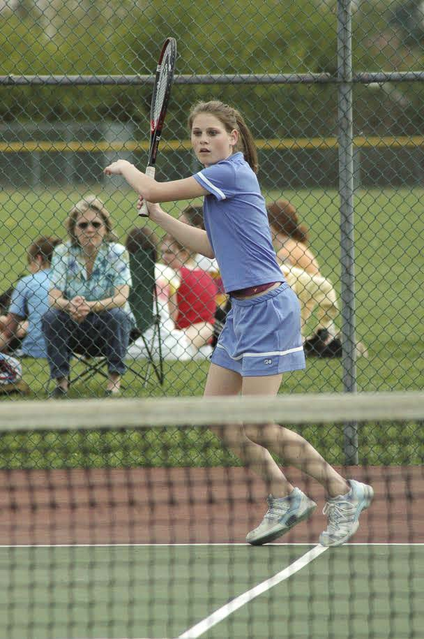 Dr. Sarah Harvey excelled in tennis in high school and in college. She said the sport will always be a part of her life. Photo courtesy Carl Click