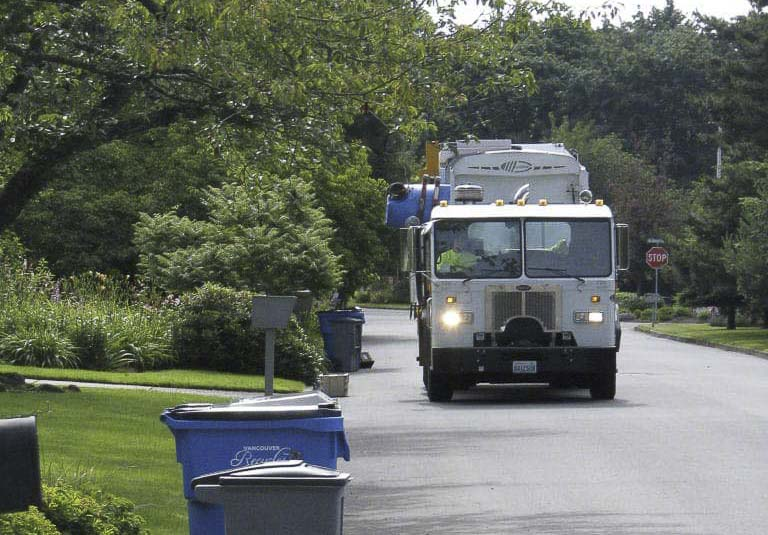 Starting Monday, a team of Recycling Advocates from Waste Connections will be checking recycle carts that residents have set out at the curb on their service day. Photo courtesy of Waste Connections of Washington