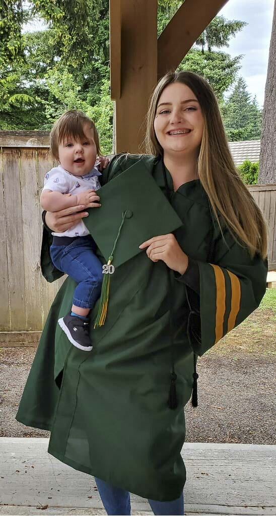 Breeanna Campbell, 20, holds her son Carter. Breeanna said Independent Living Skills from the YWCA Clark County has given her confidence to make a positive change in her life. Photo courtesy of Breeanna Campbell.