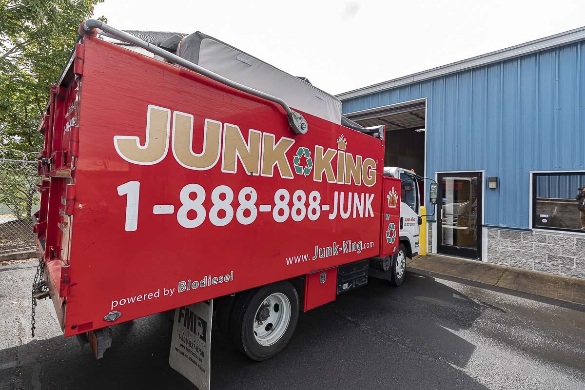 The Junk King has two franchises in the Vancouver-Portland area. The Vancouver office opened in February, just before the pandemic hit. Photo by Mike Schultz
