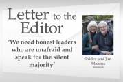 Letter: 'We need honest leaders who are unafraid and speak for the silent majority'