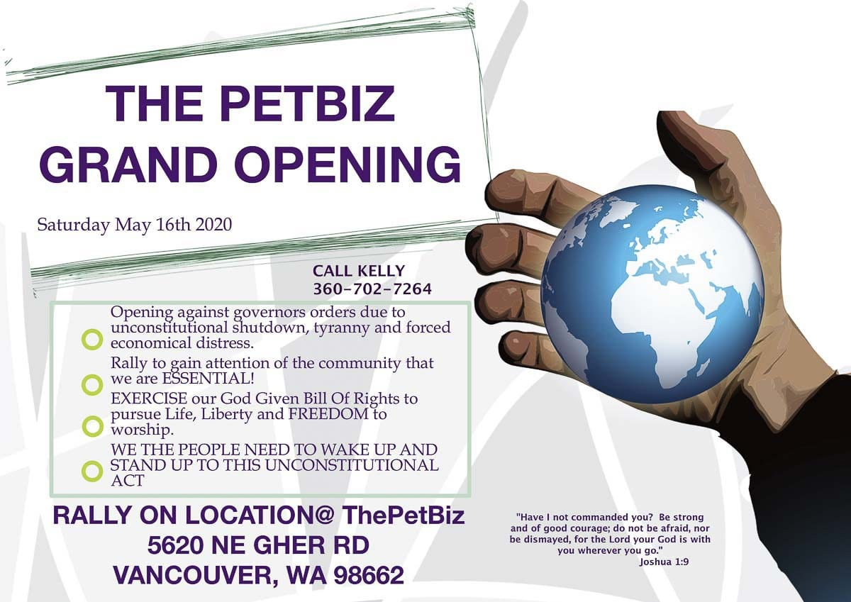 Screenshot of a post on Facebook announcing the reopening of PetBiz in Vancouver last May. Photo via PetBiz/Facebook