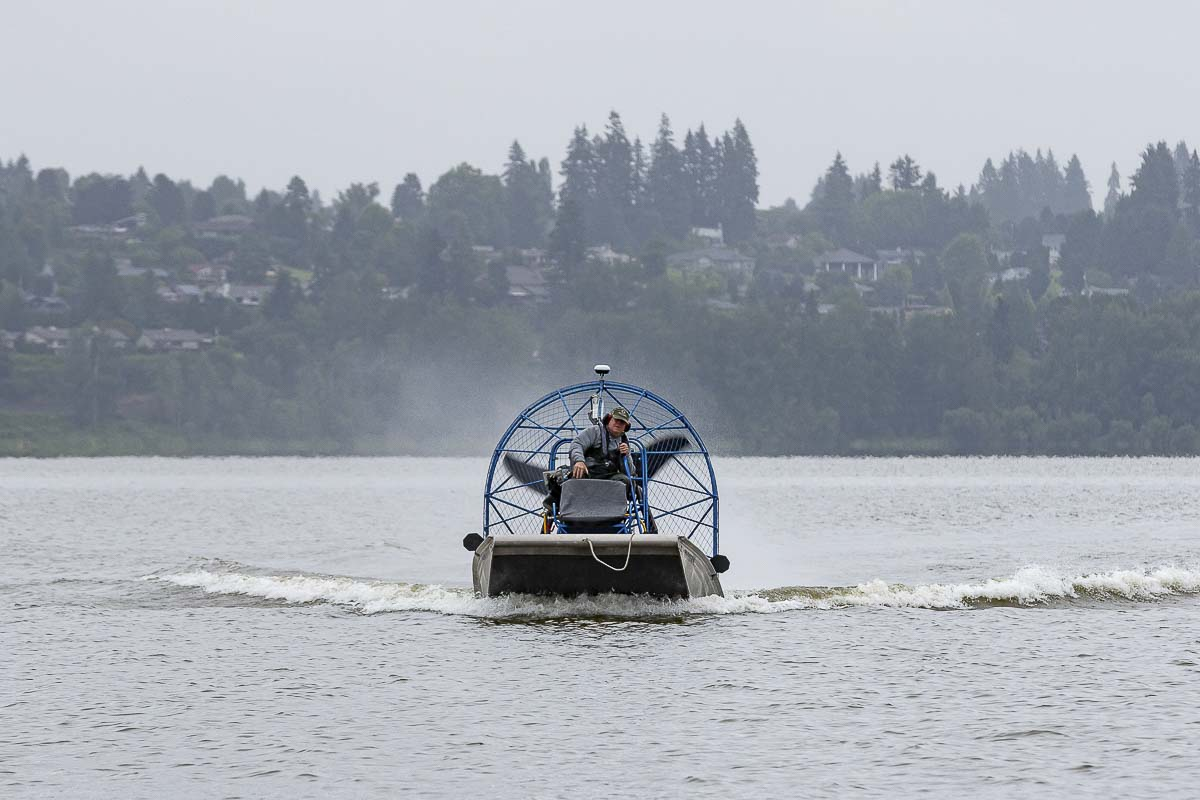 A planned treatment of the Eurasian Watermilfoil weed infestation in Vancouver Lake and the flushing channel is underway this week and is expected to take up to three days. The treatment will not impact lake users nor limit activities. Photo by Mike Schultz
