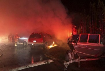 Mobile home and vehicles lost in Friday morning fire in Ridgefield