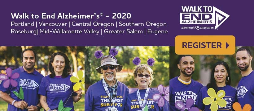 The Alzheimer's Association International Conference is online this year, and the Walk to End Alzheimer's is still happening with some slight modifications for COVID-19. Graphic courtesy of the Alzheimer's Association