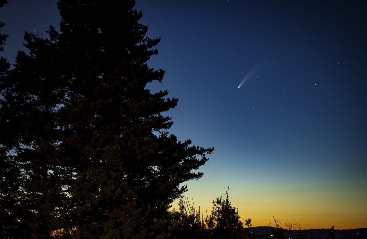 The Comet NEOWISE, taken from the Portland Women's Forum State Scenic Viewpoint in Corbett. Photo by Heather Tianen