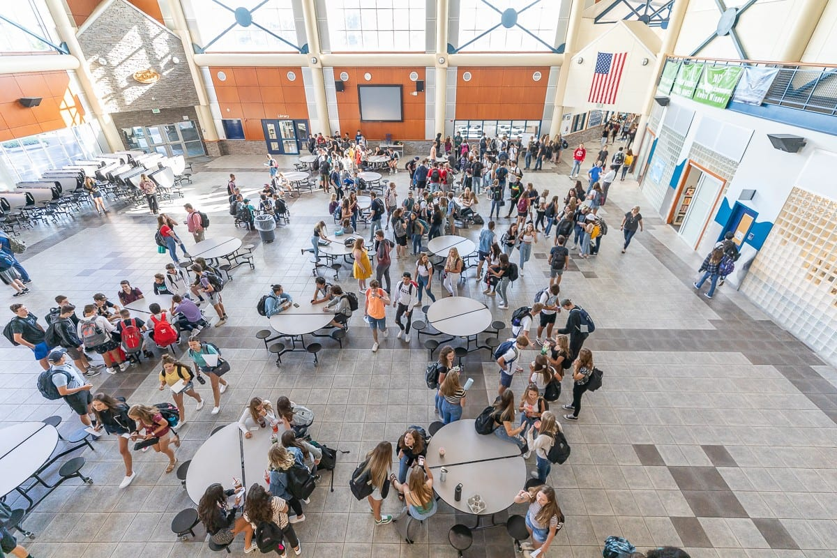 Scenes like this one at Hockinson High School could be a distant memory by the time students can return to their classroom. File photo by Mike Schultz