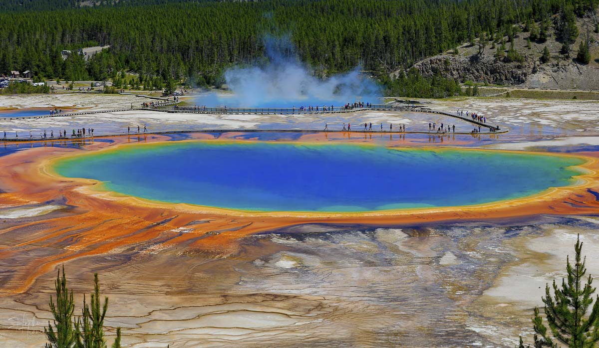 Heather Tianen said she just had to see the Grand Prismatic Spring in person. Then she took this picture. Photo by Heather Tianen