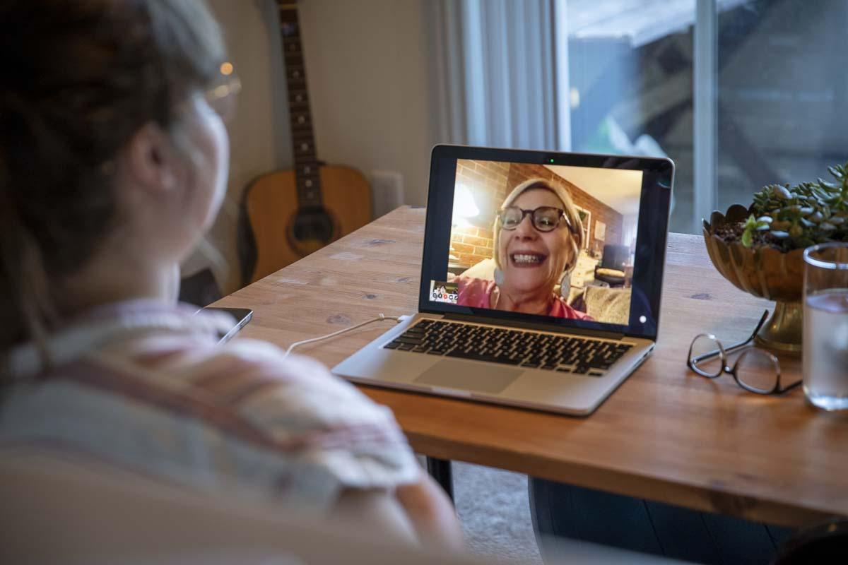 Dr. Dodge and her team use specialized conversation techniques when video calling with patients who are a part of the I-CONECT program. Photo illustration by Jacob Granneman