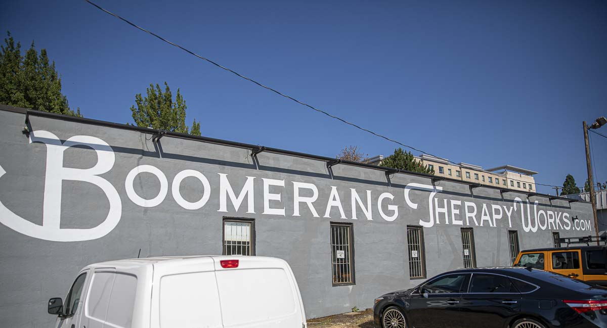 Boomerang implements some of the most state-of-the-art equipment in their therapy, including moving platforms and special harnesses. Photo by Jacob Granneman