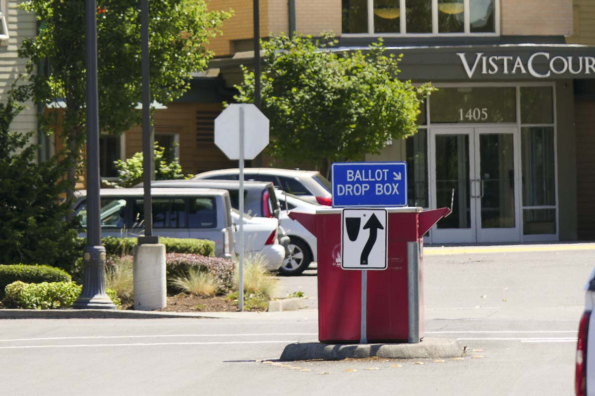 The Clark County Elections Office has added eight ballot drop boxes for the upcoming Nov. 3 general election. The county now has 20 ballot drop boxes available to voters 24-hours a day beginning Oct. 18. File photo