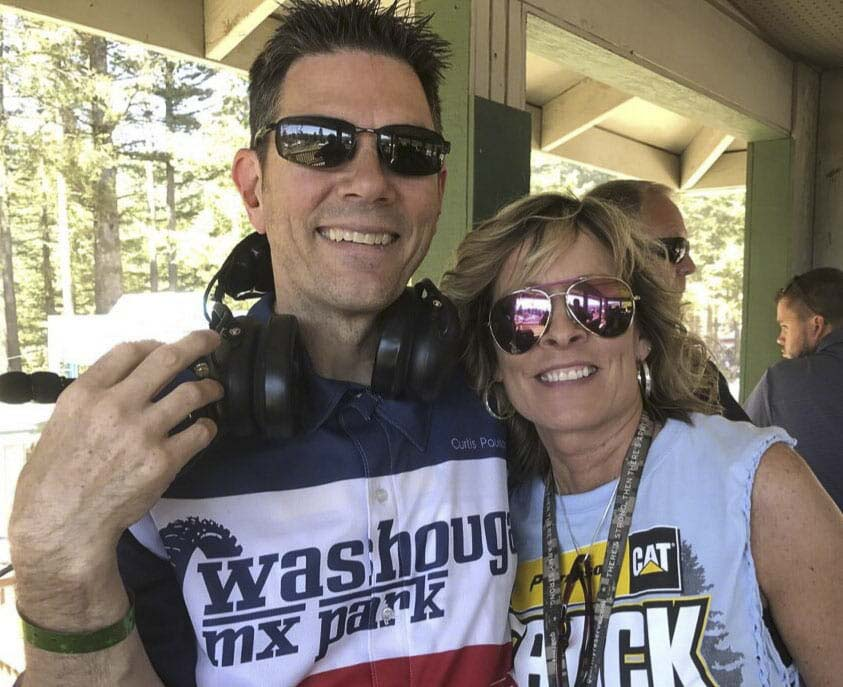 Curtis Paulson, along with his wife Theresa, have worked at the Washougal MX Park for years. Curtis is the track announcer. Photo courtesy of the Paulson family.