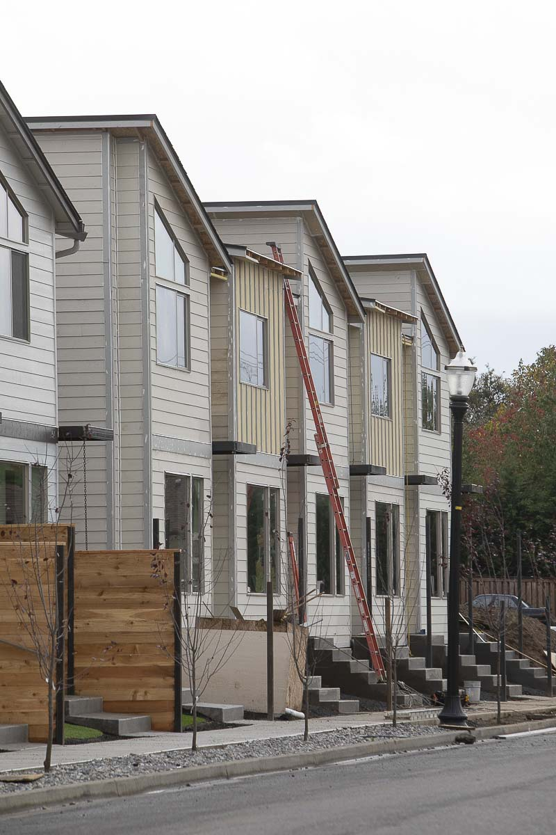 Duplexes under construction in Clark County. Photo by Mike Schultz