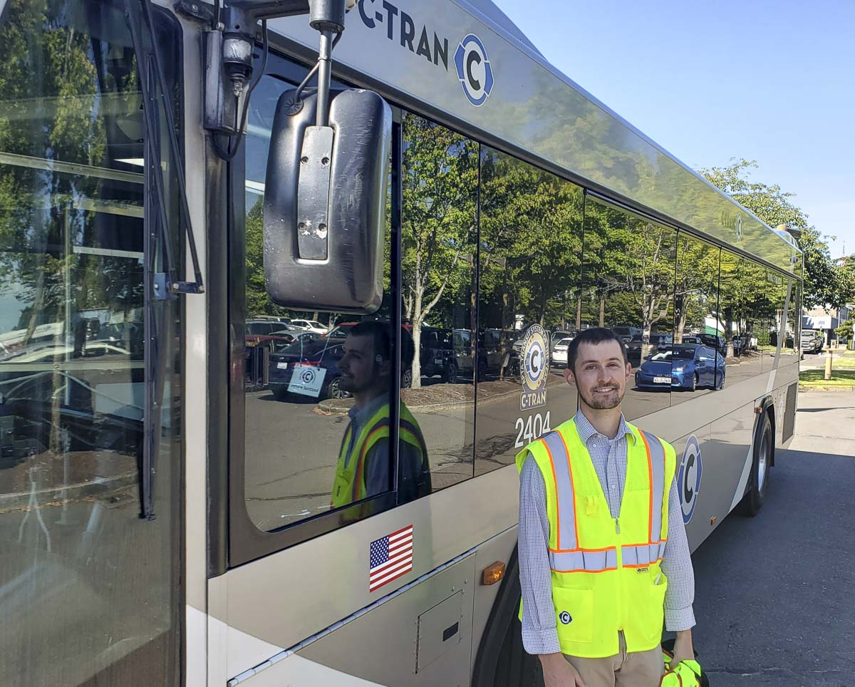 Eric Florip, public affairs coordinator for C-TRAN, was named among the top 40 professionals under 40 in the mass transit industry. Photo by Paul Valencia