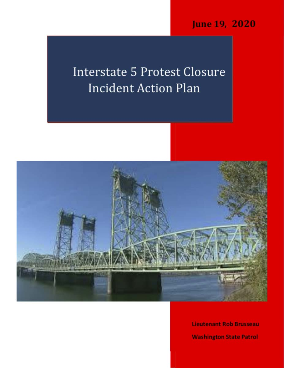 Interstate 5 Protest Closure Action Plan. Click to view PDF.