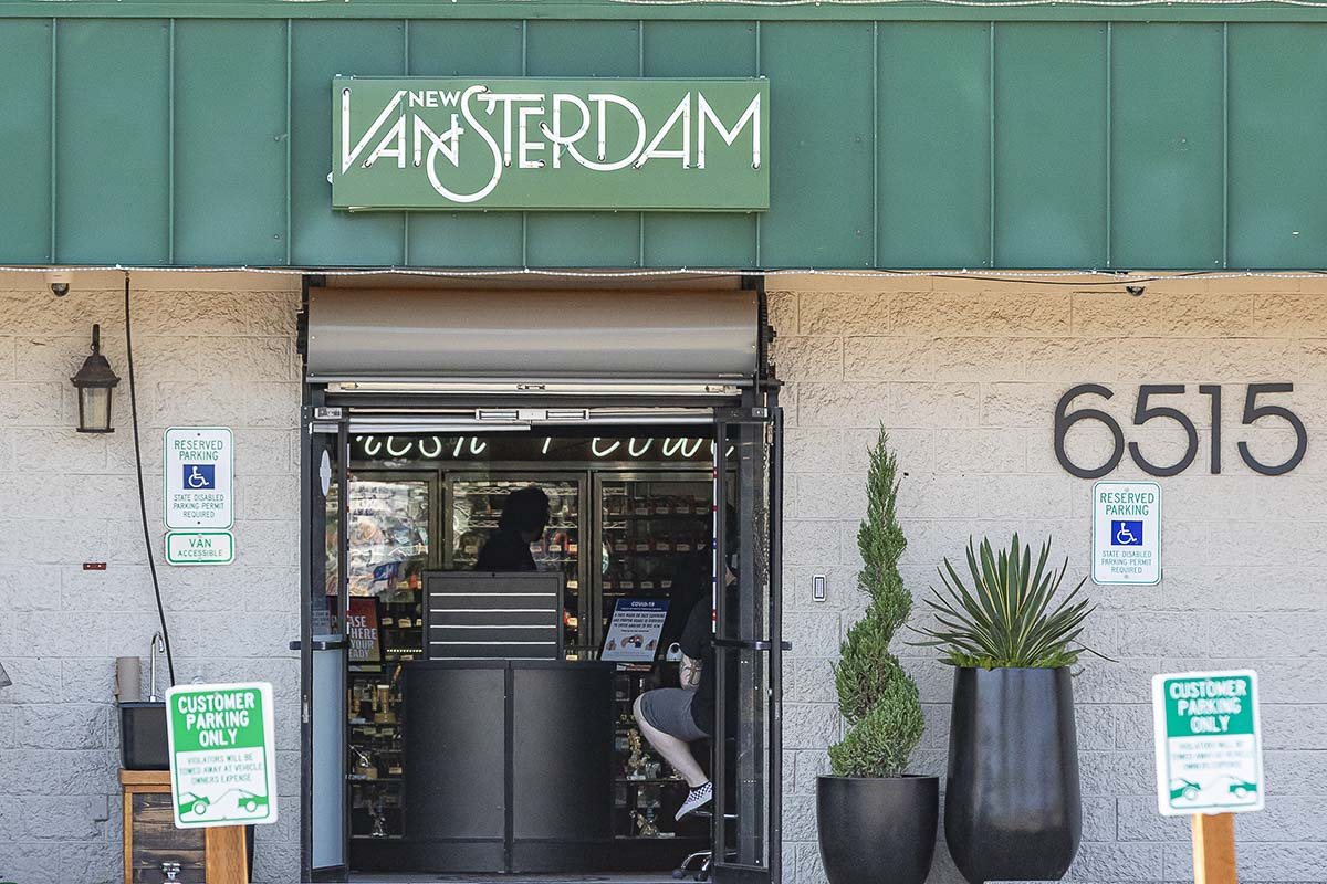 New Vansterdam marijuana shop in Vancouver has three locations across the Pacific Northwest, and would be the only shop with the proper licensing to open a location in Camas if Initiative 1 passes. Photo by Mike Schultz