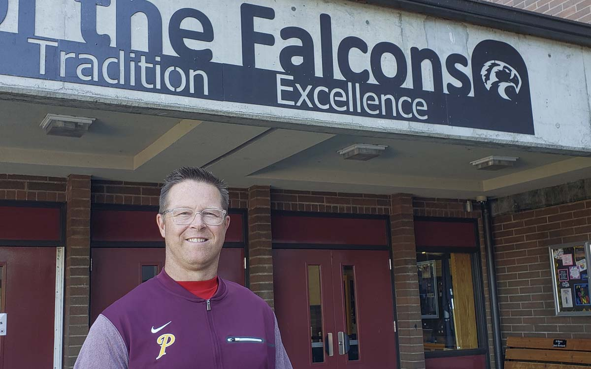 Mike Smith has returned as the girls basketball coach at Prairie. He led the Falcons to a 21-4 record in his lone season as the head coach, back in the 2012-13 season. Photo by Paul Valencia