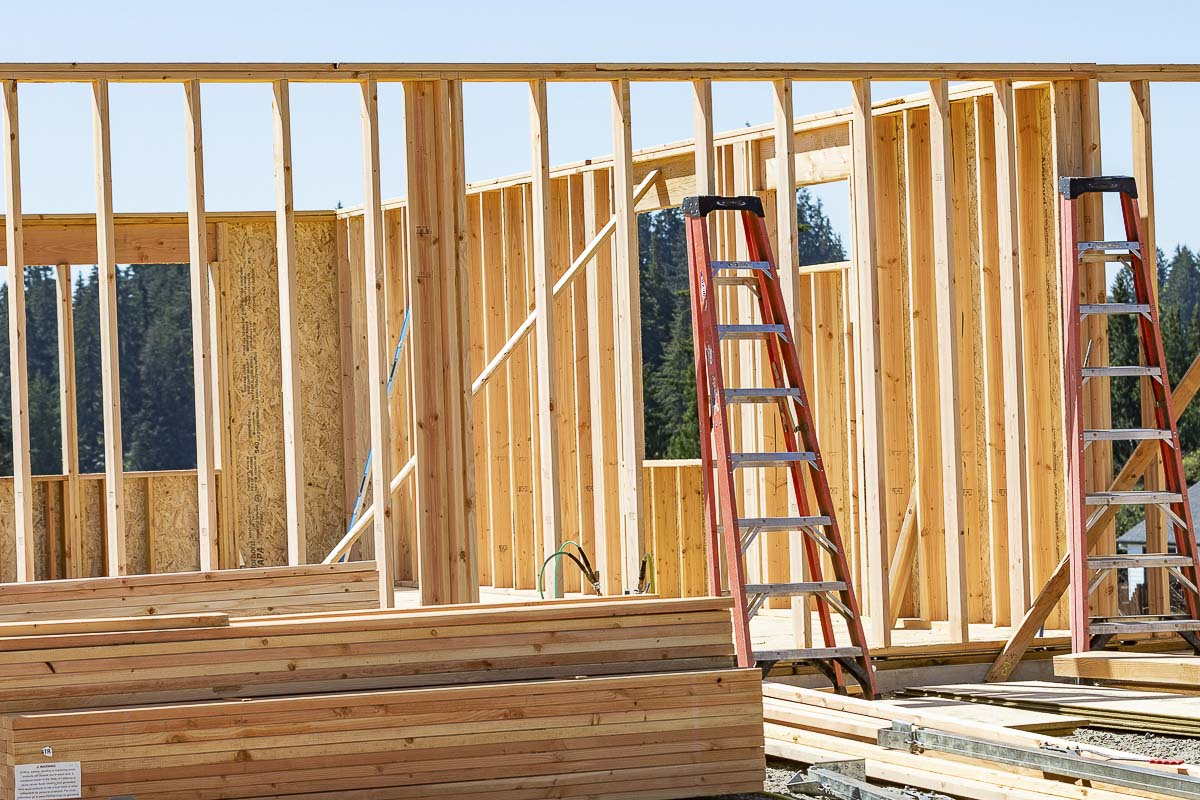 The recent spike in softwood lumber prices has caused the price of an average new single-family home to increase by $16,148 since April 17, according to the National Association of Home Builders Standard Estimates of Lumber used to build the average home. Photo by Mike Schultz