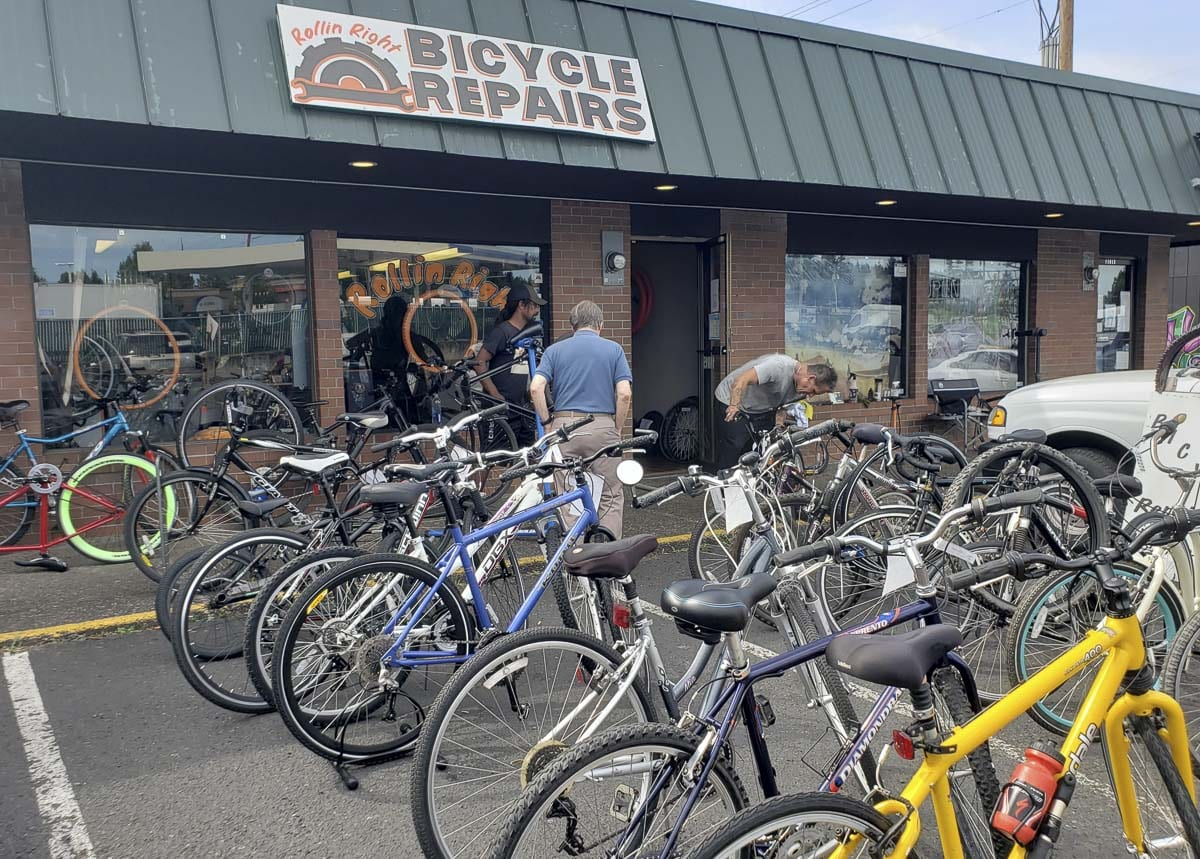 Rollin Right Bike Repair is located at 11015 NE Burton Road in Vancouver. Photo by Paul Valencia