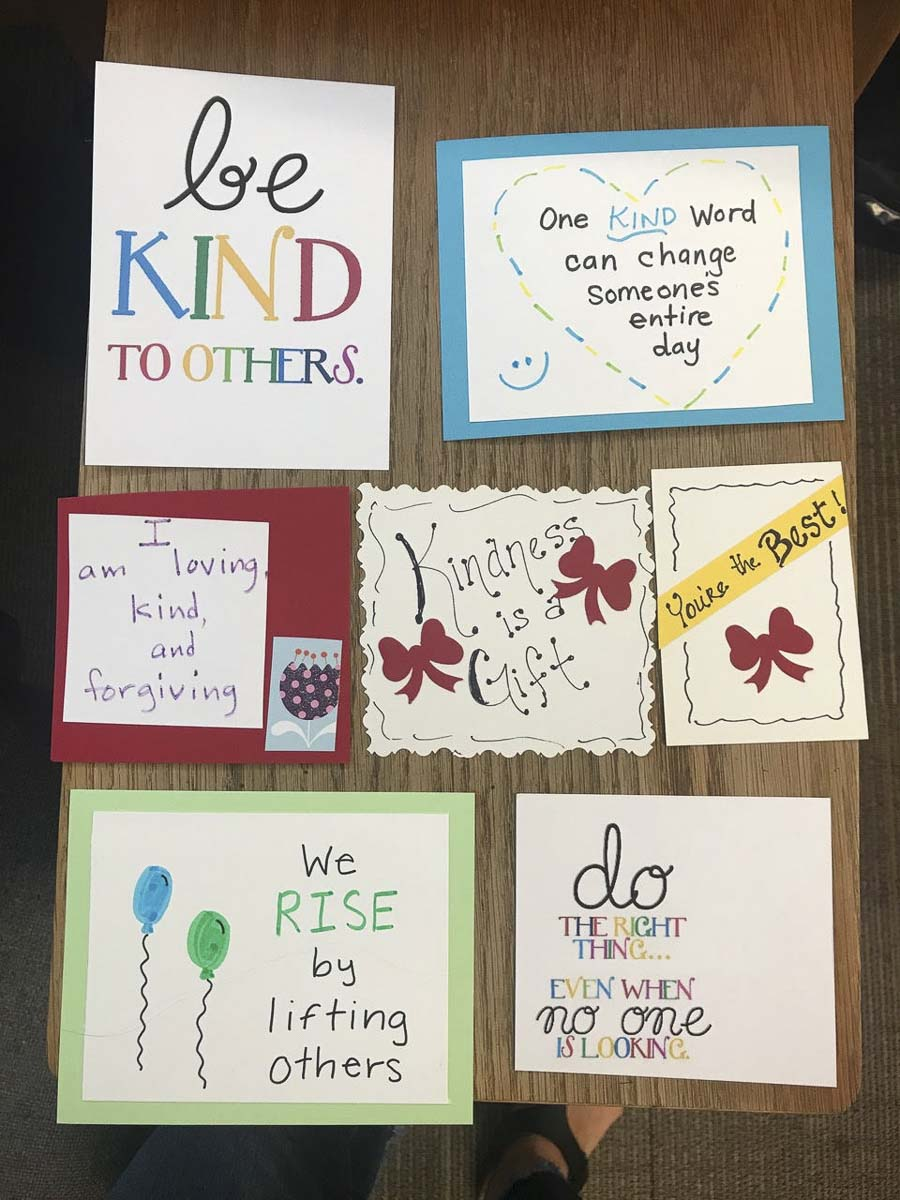 The handmade notes have served as an inspiration to many. Photo courtesy of Ridgefield Public Schools