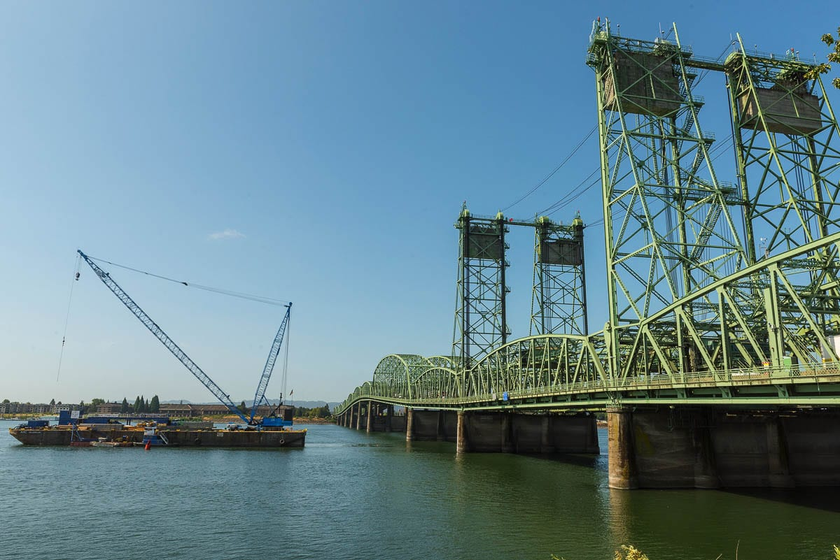 The Interstate Bridge northbound span is set to reopen before Monday, after a nine-day closure to repair the lift span. Photo courtesy Oregon Dept. of Transportation