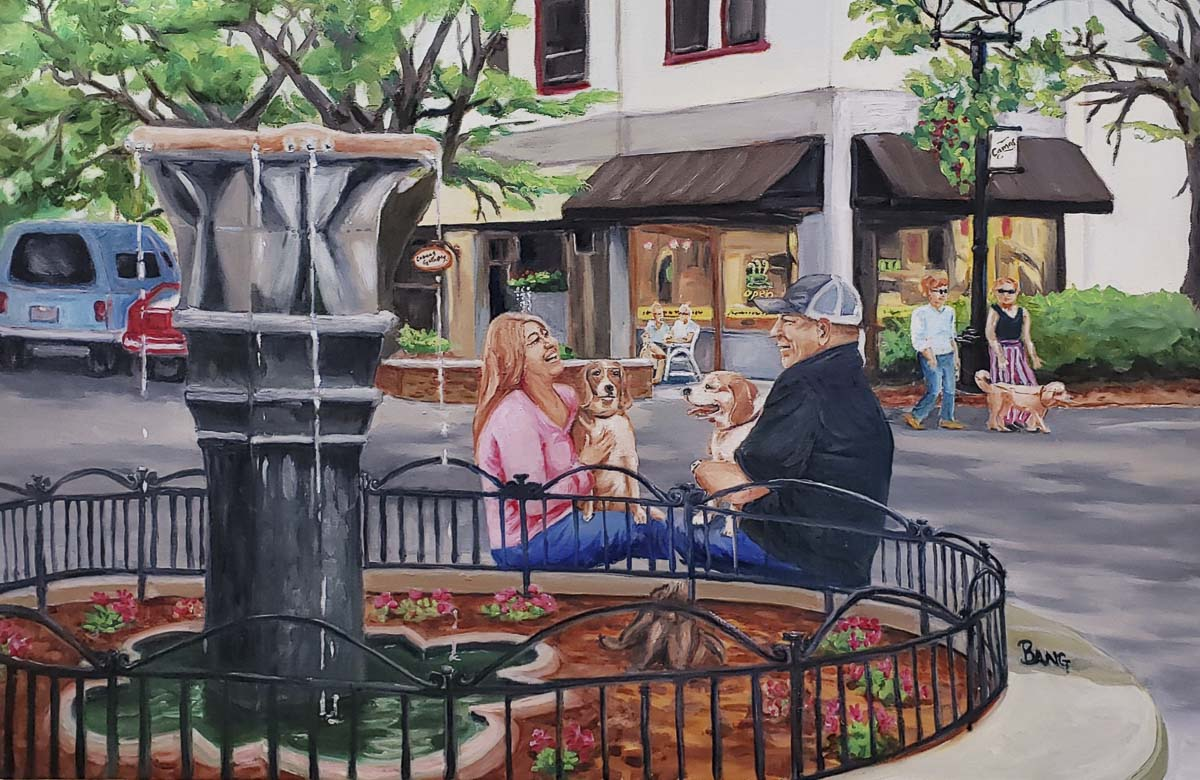 An original oil on canvas by plein artist Sarah Bang of Camas is shown here. Image courtesy of Camas Gallery