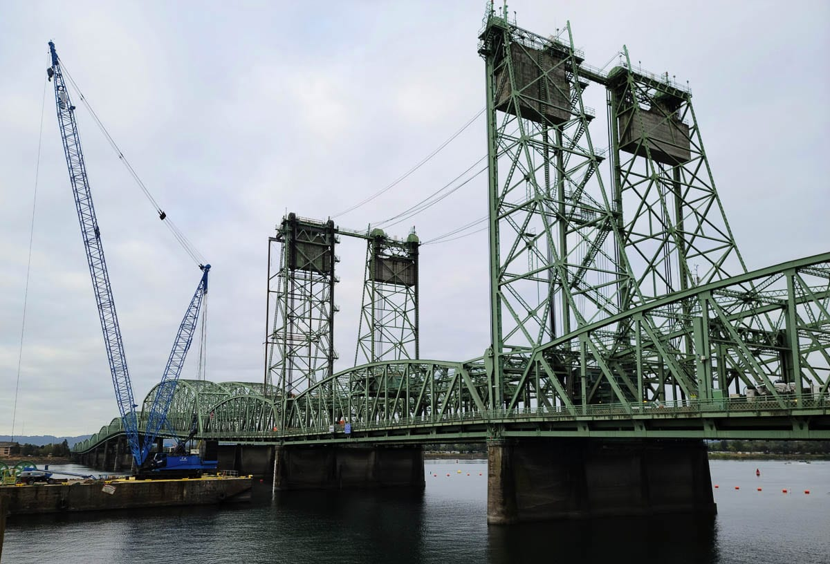 The nine-day shutdown of the northbound lanes of the Interstate Bridge turned into seven days as crews finished that part of the project early. Photo by Paul Valencia