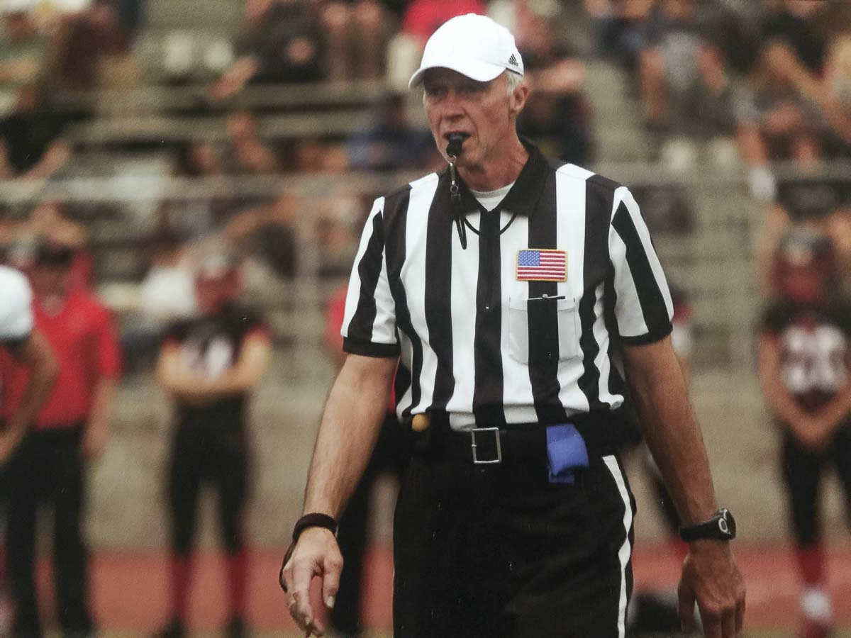 Bruce Hermansen was the referee for the Patriots-Ravens game on Sunday Night Football back in 2012. It would be his last game in the NFL. Photo courtesy Hermansen family