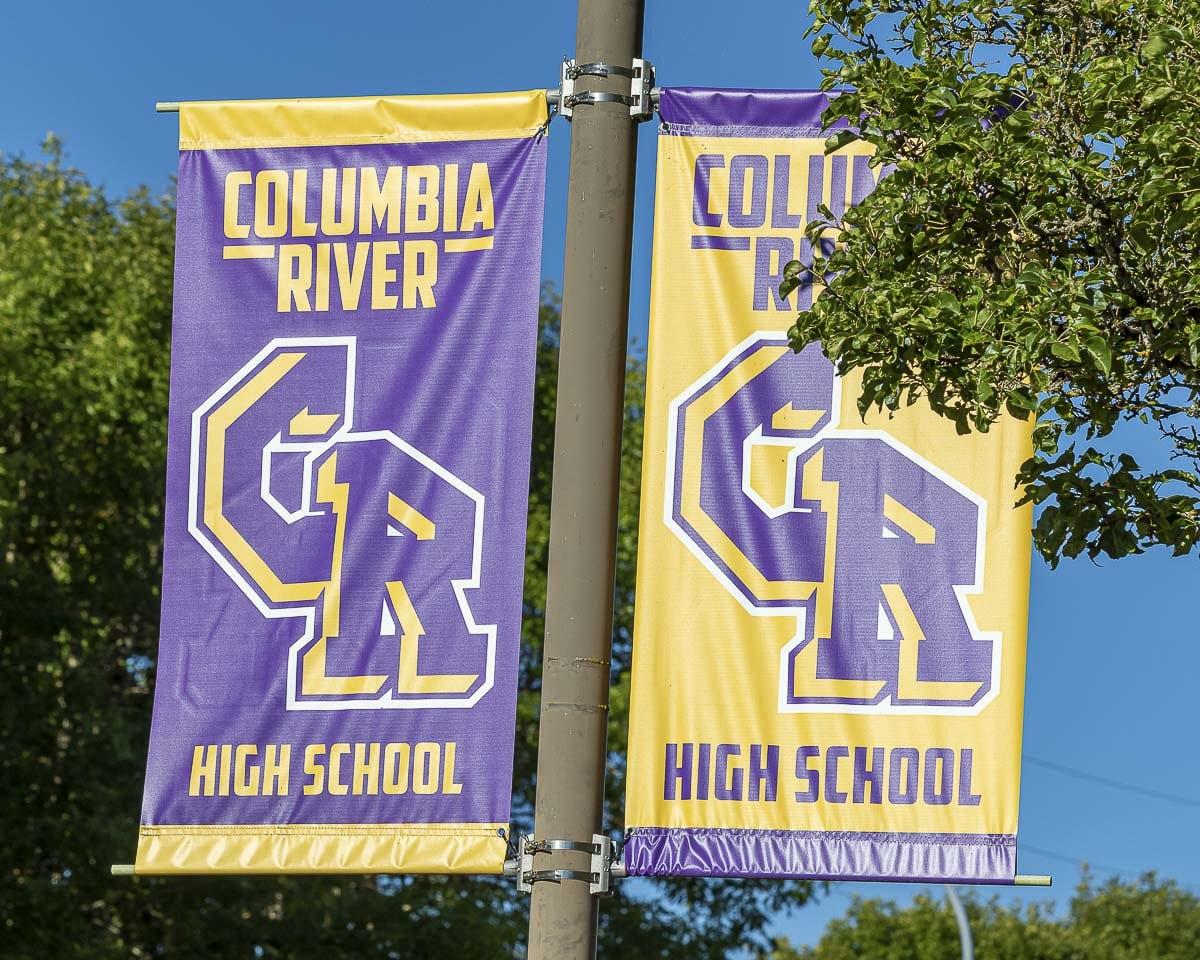 Staff and students have been working with area tribes to find a way to honor Native Americans and create a new logo at Columbia River High School, the home of the Chieftains. Photo by Mike Schultz