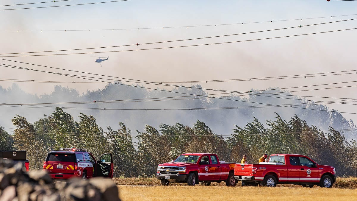Fire marshals in Clark County and the cities of Vancouver and Battle Ground have announced decisions to lift recreational burn bans in the area. Most of the bans were issued on Sept. 8 after weather and winds led to fires throughout the region. Photo by Mike Schultz