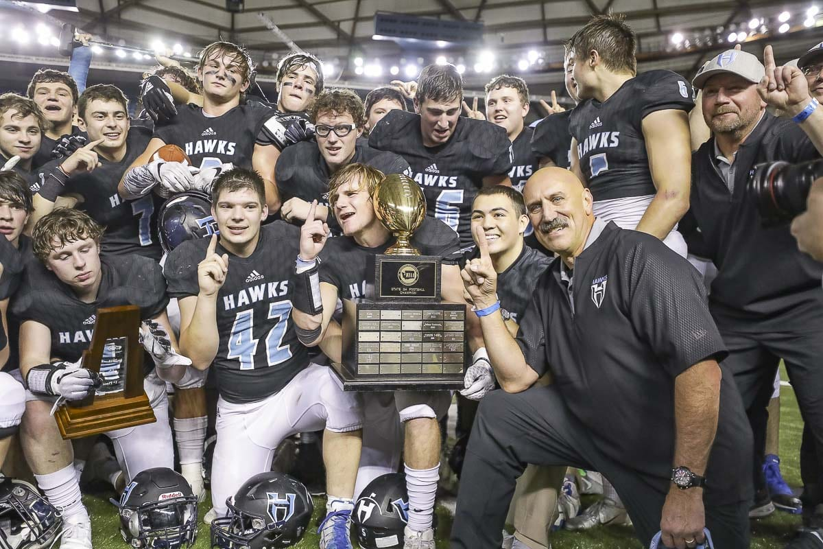 The Hockinson Hawks won their second consecutive state title in 2018. Photo by Mike Schultz