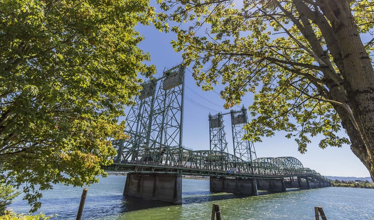 The I-5 Bridge consists of two spans each constructed over 100 and 70 years ago, respectively. Photo by Mike Schultz