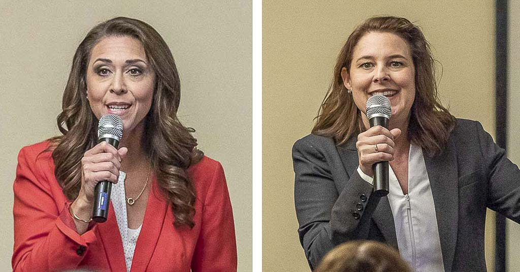 Jaime Herrera Beutler and Carolyn Long are scheduled to participate in a virtual debate hosted by the League of Women Voters Clark County on Fri., Oct. 9. Photos by Mike Schultz