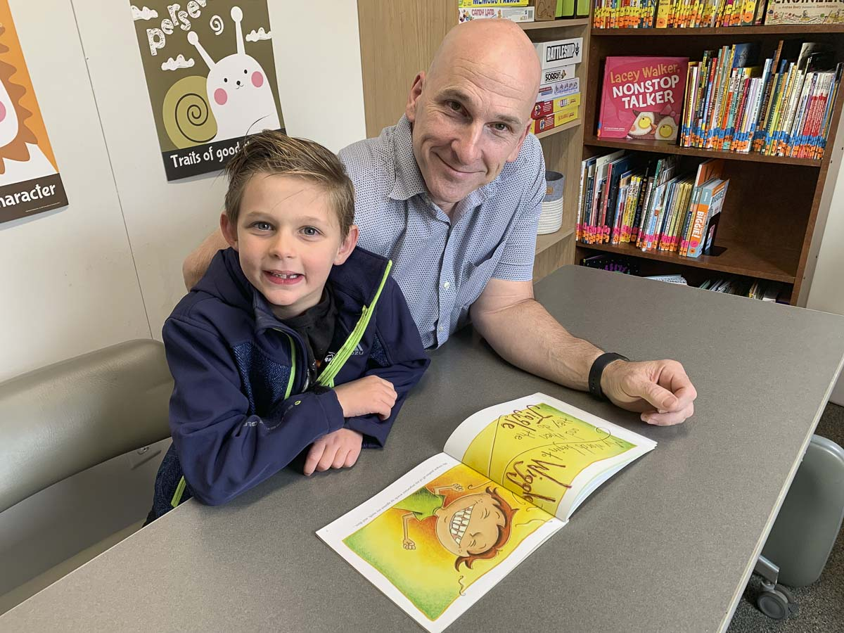 MentorSuccess mentor Craig is seen here with Connor, a student at Cornerstone Christian Academy, back during in-person mentoring. Photo courtesy of His Heart Foundation