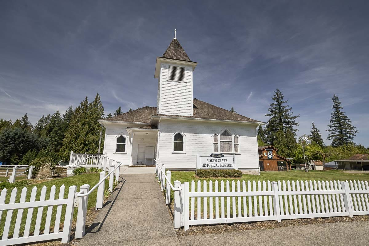 The old white church in Amboy now serves as a museum and central gathering place for the community. Photo by Mike Schultz