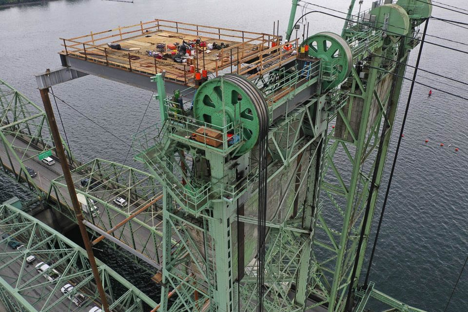 Oregon Department of Transportation wrapped up a nine-day closure of the NB Interstate Bridge span nearly two days ahead of schedule. Photo courtesy ODOT
