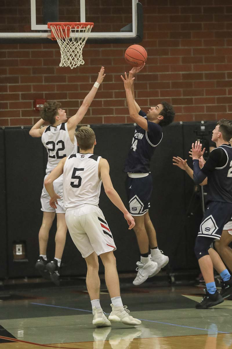 Jace Chatman helped Skyview reach the Class 4A state quarterfinals this past winter. Now a senior, he told his coach he and his family have moved out of state.. Photo by Mike Schultz