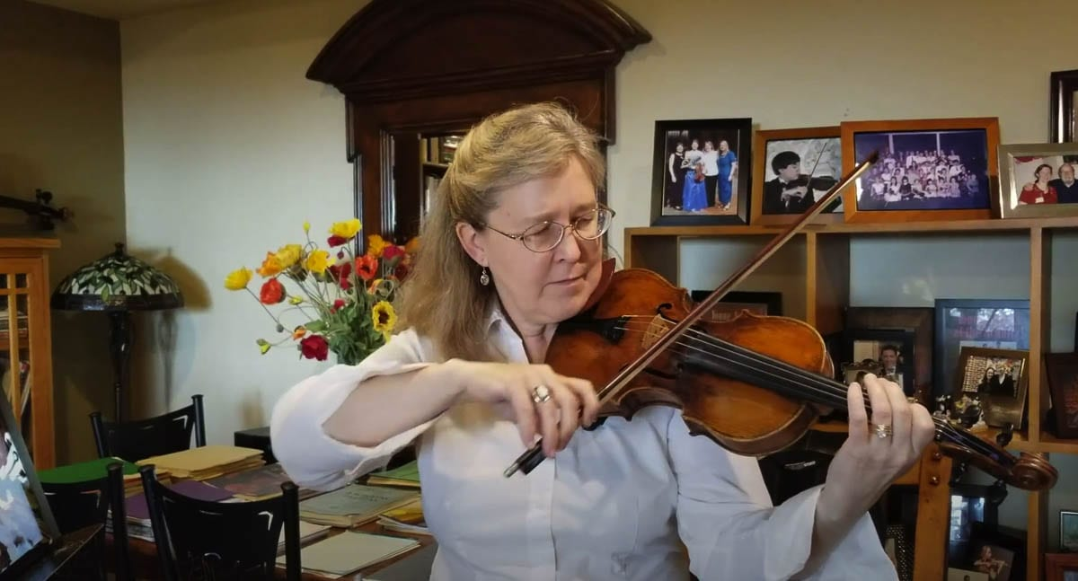 Clarisse Atcherson shares the story of her in-home studio, her 280-year-old violin, and teases us with a song. Video by John Ley