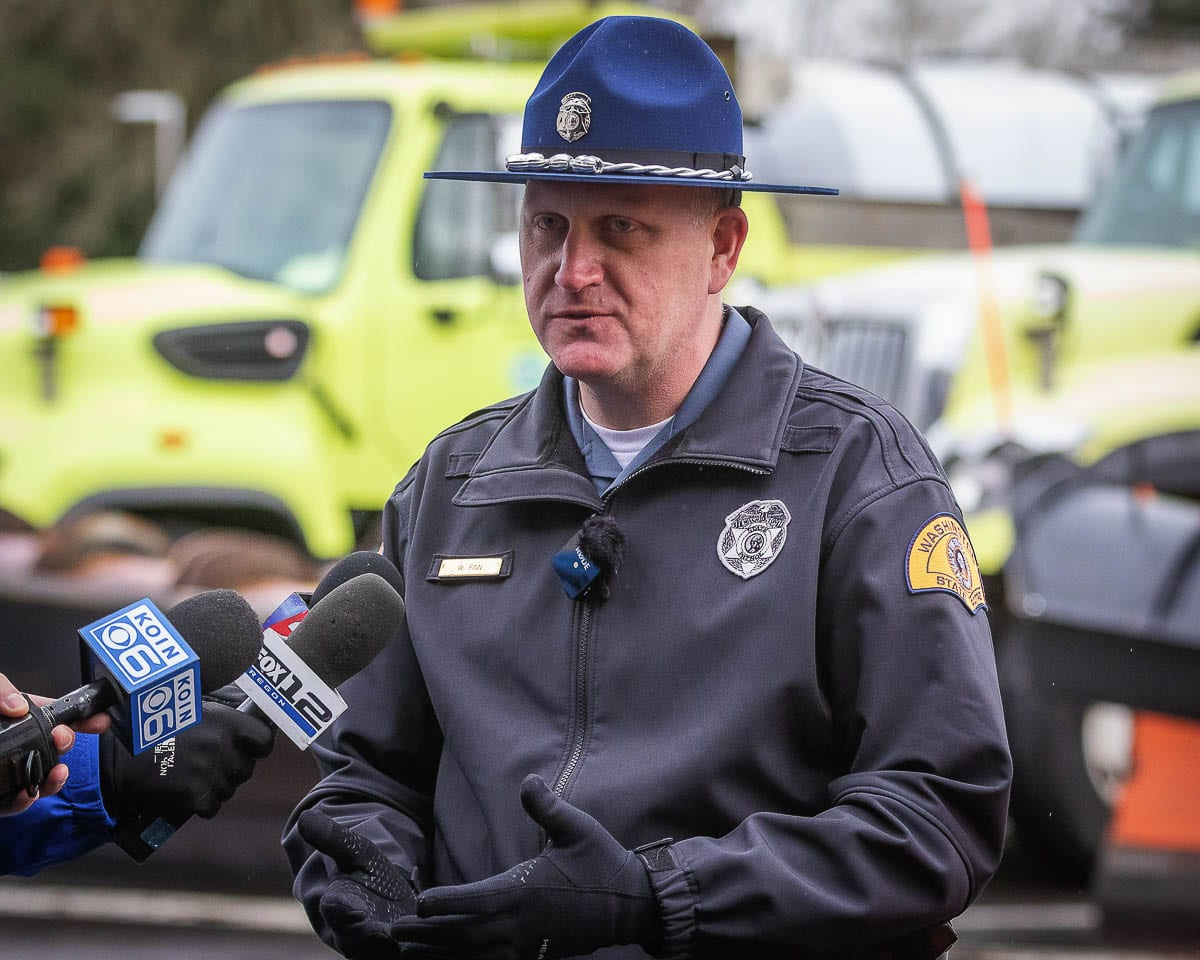 Washington State Patrol spokesman Will Finn is shown in this file photo. Photo by Mike Schultz