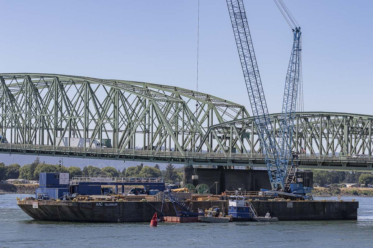 The Interstate Bridge replacement project is among the many transportation projects the Southwest Washington Regional Transportation Council has funds budgeted for in the next three years. Photo by Mike Schultz