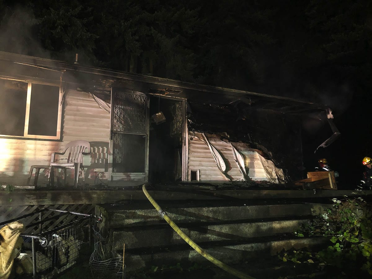 An unidentified occupant was pronounced dead after being removed from a Vancouver house fire Saturday. Photo courtesy of Vancouver Fire Department