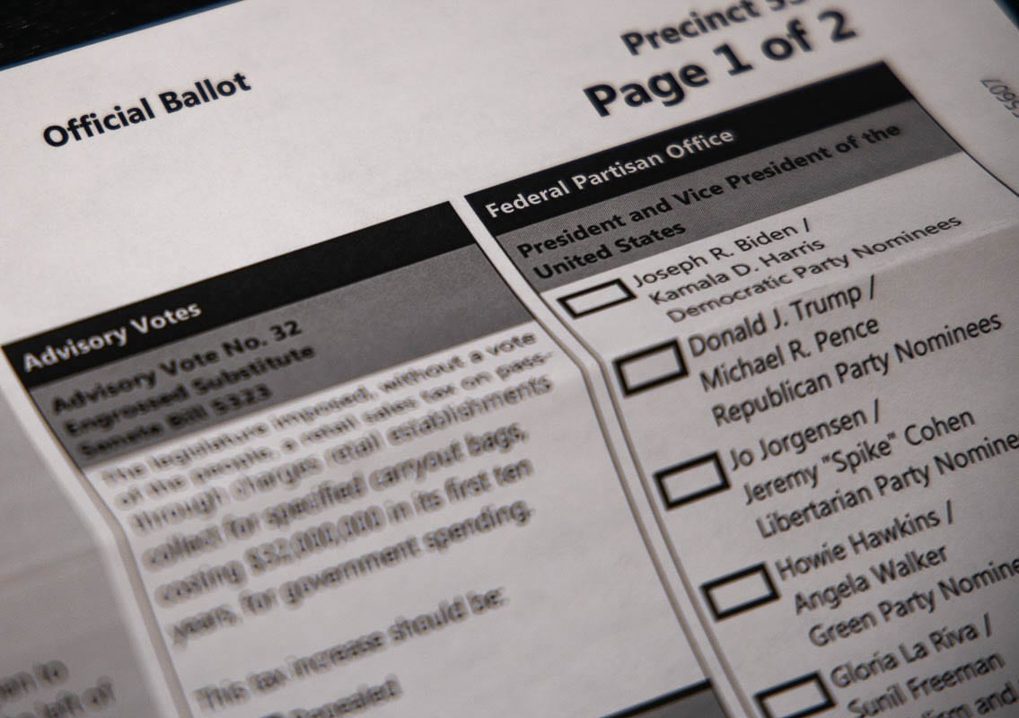 Ballots for the 2020 Nov. 3 general election should be in mailboxes no later than Wednesday, Oct. 21. Photo by Chris Brown