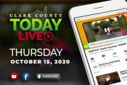 WATCH: Clark County TODAY LIVE • Thursday, October 15, 2020