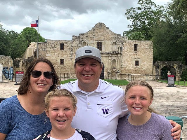 Remember the Alamo? How about, remember that epic road trip of 2020? The Castro family of La Center, Jill and Jason, along with daughters Maddie and Bailey, went to 37 states in 33 days. Photo courtesy of the Castro family