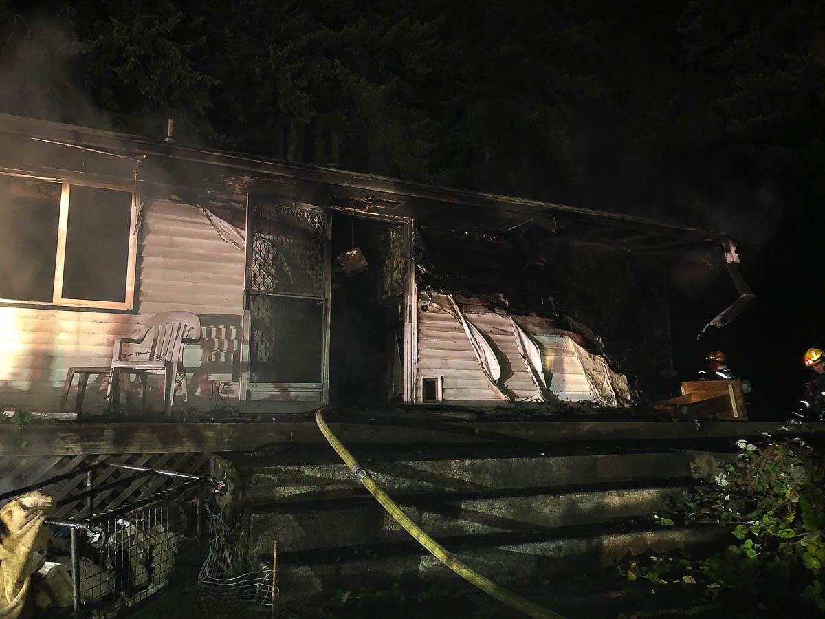 John E. McCarty, 75, died in this house fire on Oct. 10. The Clark County Sheriff's Office says the cause of the fire is considered suspicious. Photo courtesy Vancouver Fire and Rescue