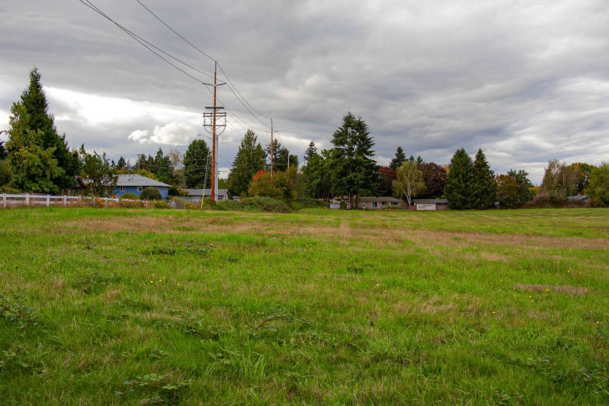 9.5 acres of land along NW Franklin St. in Vancouver will become Dollie and Ed's Park, in honor of Ed and Dollie Lynch. Photo by Jacob Granneman