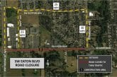 Temporary closure of SW Eaton Boulevard starting Mon., Oct. 26