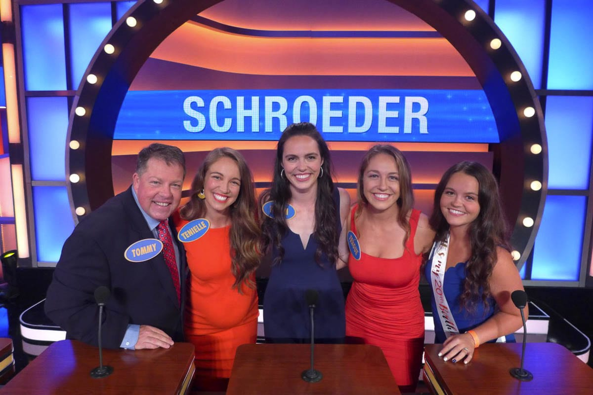 The Schroeder family of Camas will be on the game show Family Feud this week: Tommy, Tenielle, Tatum, Teague, and Tyra. Photo courtesy Shroeder family
