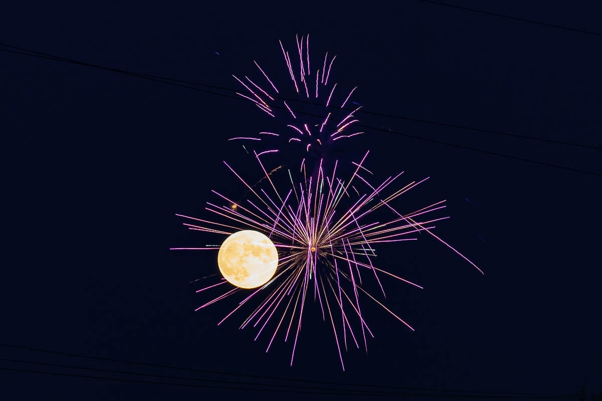 Fireworks at the Clark County Fairgrounds was one of the only public shows this year. Photo by Mike Schultz