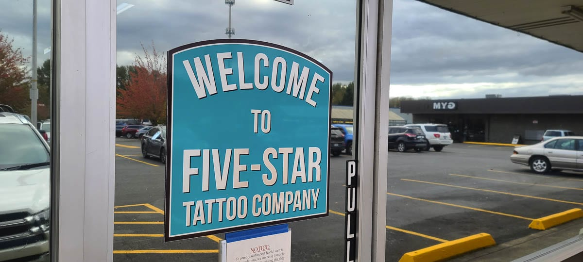 Five-Star Tattoo in Battle Ground and its customers have been known to give a lot during fundraisers. Photo by Paul Valencia